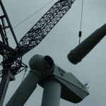 Disassemby of the wind turbine blades
